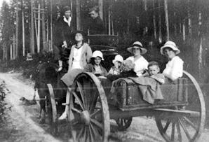 Farm wagons that hauled farm produce and hay all week became the community bus on days off when whole families headed off to a park for a picnic or to visit friends.