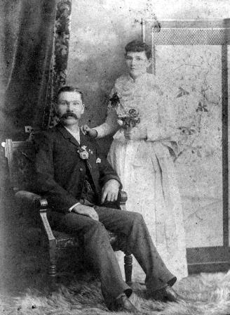 John and Mary Ritchie when they married in 1892.  He was 15 years her senior.