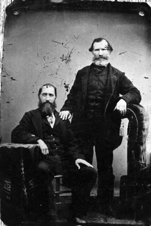 Sam Robertson and friend Kenneth Morrison in the 1860's.