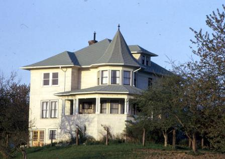 The Hill House, taken from near 240th showing the house in its original location in about 1970.