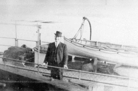 "William Owen; captain of the ""Fort Langley"" at Albion circa 1920."