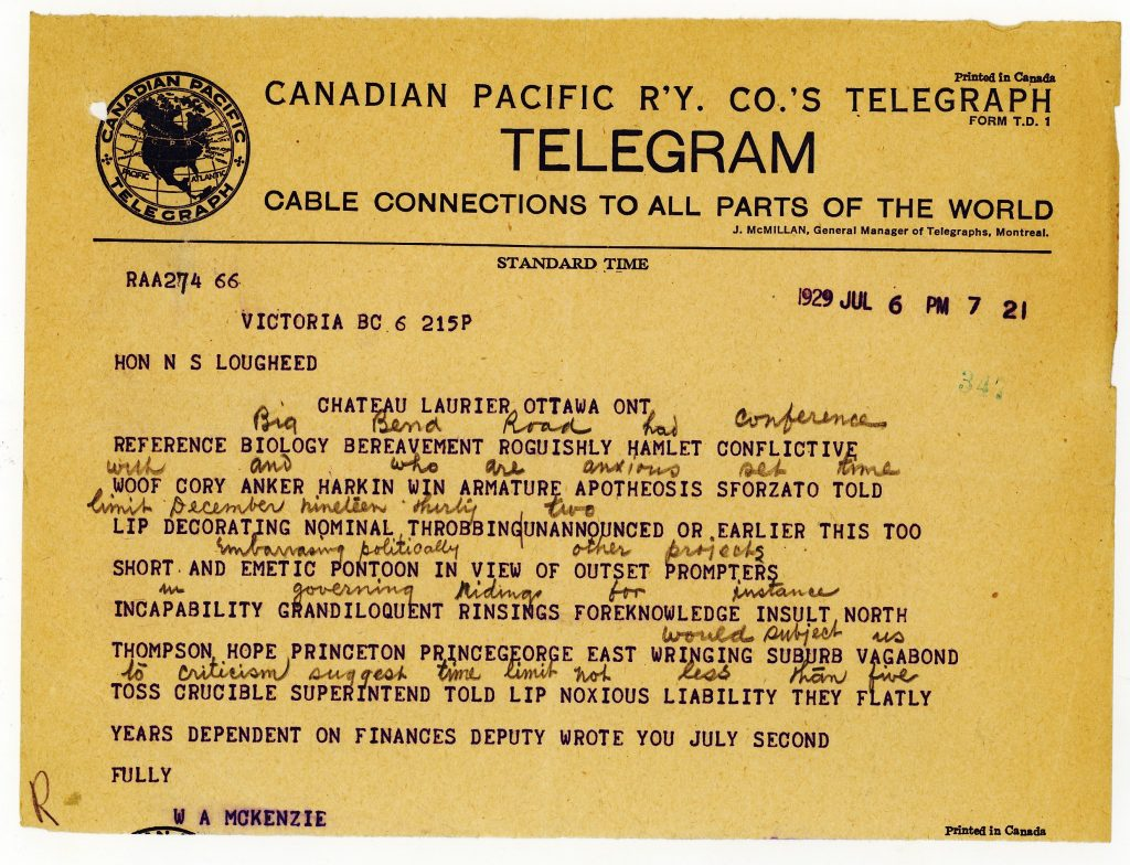Lougheed Telegram