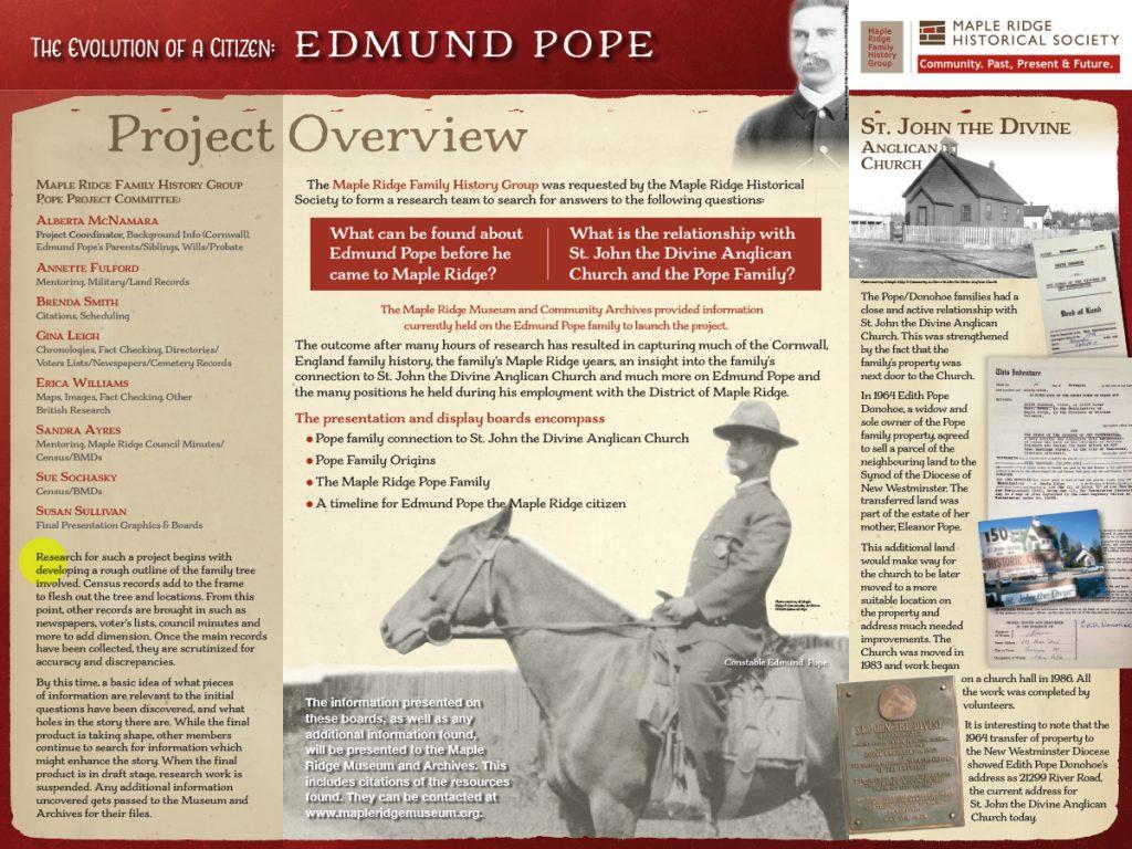 The Evolution of a Citizen: Edmund Pope Board 1