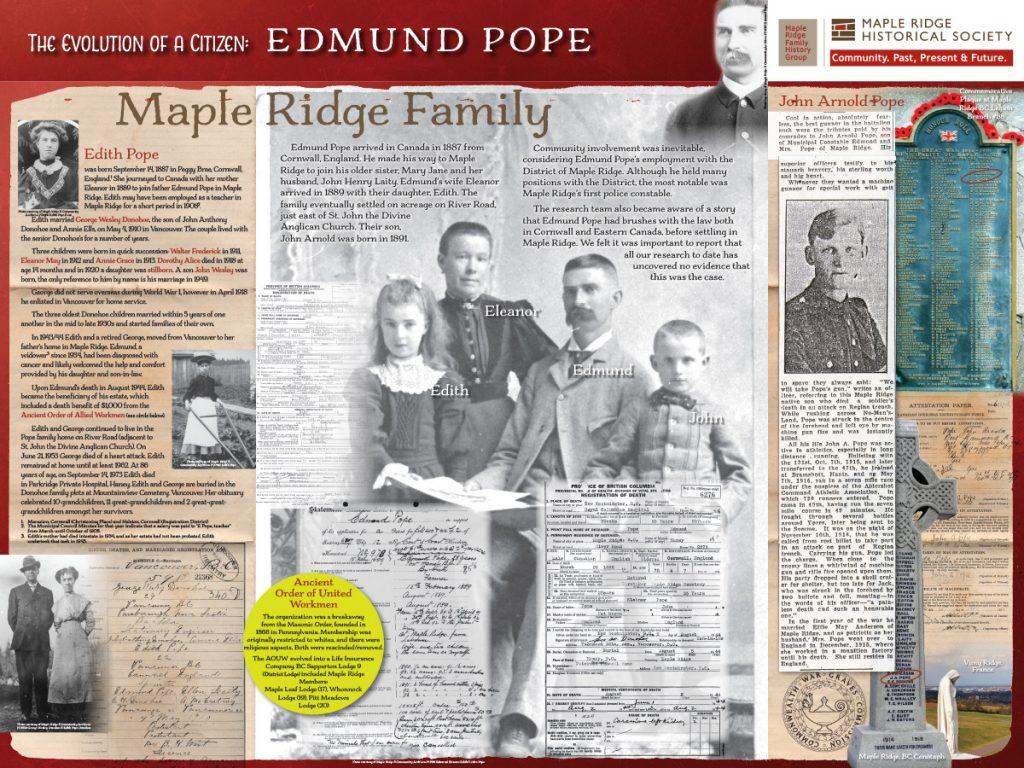 The Evolution of a Citizen: Edmund Pope Board 2