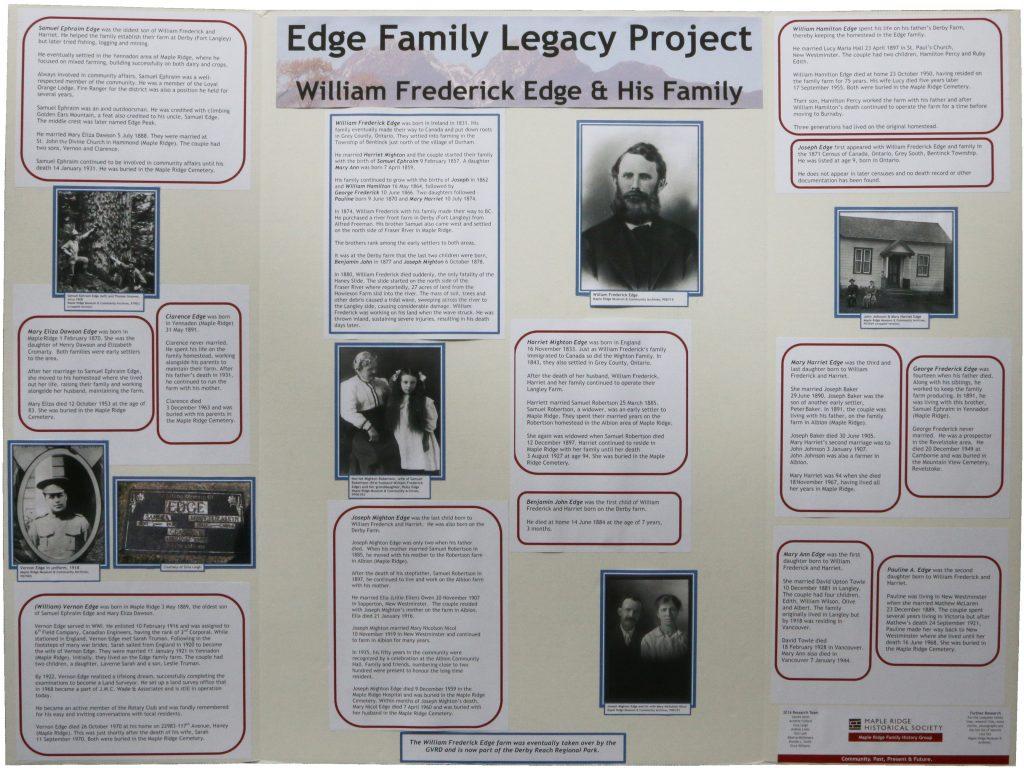 William Edge and his Family